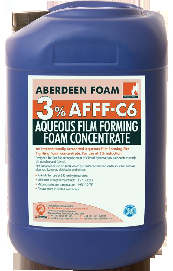 Aberdeen Foam 3 Afff C6 Oil Technics Fire Fighting Foam