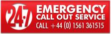 24 7 EMERGENCY SERVICE button